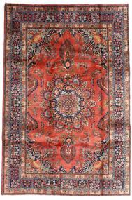 Mashad Matto 196X290 Itämainen Käsinsolmittu Tummanpunainen/Tummanvioletti (Villa, Persia/Iran)