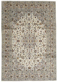 Keshan Matto 246X352 Itämainen Käsinsolmittu Vaaleanharmaa/Tummanharmaa (Villa, Persia/Iran)