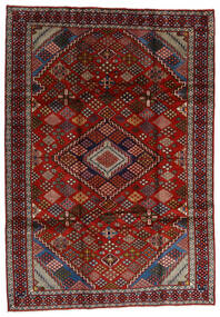 Mashad Matto 210X296 Itämainen Käsinsolmittu Tummanpunainen/Tummanruskea (Villa, Persia/Iran)
