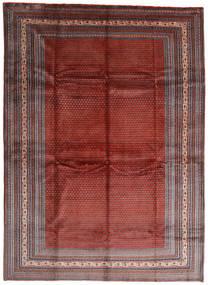 Sarough Mir Matto 317X433 Itämainen Käsinsolmittu Tummanpunainen/Tummanruskea Isot (Villa, Persia/Iran)