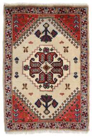 Ghashghai Matto 59X84 Itämainen Käsinsolmittu Tummanpunainen/Beige (Villa, Persia/Iran)