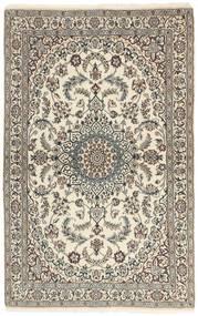 Nain 9La Matto 115X186 Itämainen Käsinsolmittu Vaaleanharmaa/Beige (Villa/Silkki, Persia/Iran)