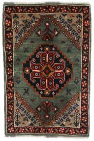 Ghashghai Matto 61X92 Itämainen Käsinsolmittu Tummanruskea/Tummanpunainen/Tummanharmaa (Villa, Persia/Iran)
