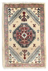 Ghashghai Matto 59X87 Itämainen Käsinsolmittu Beige/Tummanruskea (Villa, Persia/Iran)