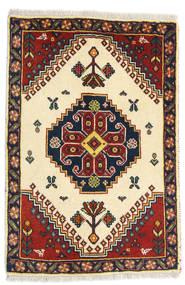 Ghashghai Matto 60X86 Itämainen Käsinsolmittu Beige/Tummanpunainen (Villa, Persia/Iran)