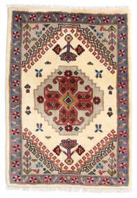Ghashghai Matto 61X86 Itämainen Käsinsolmittu Beige/Vaaleanruskea (Villa, Persia/Iran)
