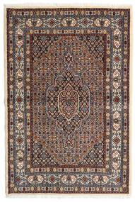 Moud Matto 98X147 Itämainen Käsinsolmittu Tummanruskea/Tummanpunainen (Villa/Silkki, Persia/Iran)