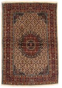 Moud Matto 100X150 Itämainen Käsinsolmittu Tummanruskea/Tummanpunainen (Villa/Silkki, Persia/Iran)