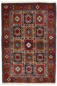 Yalameh Matto 104X154 Itämainen Käsinsolmittu Tummanpunainen (Villa, Persia/Iran)