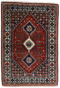 Yalameh Matto 109X155 Itämainen Käsinsolmittu Tummanpunainen/Tummanharmaa (Villa, Persia/Iran)