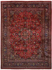 Mashad Matto 296X393 Itämainen Käsinsolmittu Tummanpunainen/Tummanharmaa Isot (Villa, Persia/Iran)