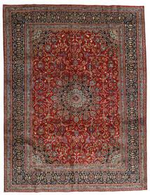 Mashad Matto 297X383 Itämainen Käsinsolmittu Tummanpunainen/Tummanharmaa Isot (Villa, Persia/Iran)