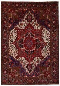 Heriz Matto 245X353 Itämainen Käsinsolmittu Tummanpunainen (Villa, Persia/Iran)