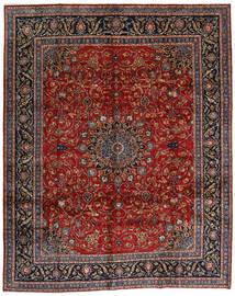 Mashad Matto 304X378 Itämainen Käsinsolmittu Tummanpunainen/Tummanharmaa Isot (Villa, Persia/Iran)