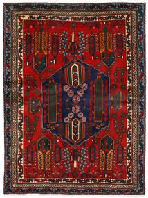 Afshar Matto 162X224 Itämainen Käsinsolmittu Tummanpunainen/Tummanruskea (Villa, Persia/Iran)