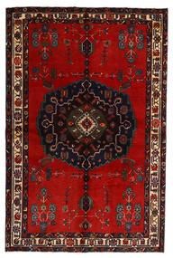 Afshar Matto 155X236 Itämainen Käsinsolmittu Musta/Ruoste (Villa, Persia/Iran)
