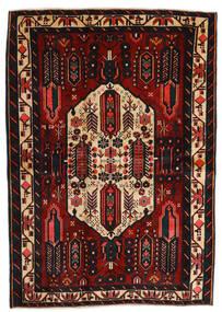 Afshar Matto 165X235 Itämainen Käsinsolmittu Musta/Tummanpunainen (Villa, Persia/Iran)