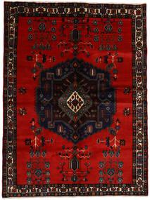 Afshar Matto 167X223 Itämainen Käsinsolmittu Musta/Tummanpunainen (Villa, Persia/Iran)