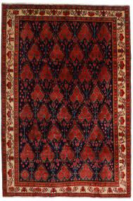 Afshar Matto 200X297 Itämainen Käsinsolmittu Tummanruskea/Tummanpunainen/Ruoste (Villa, Persia/Iran)