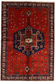 Afshar Matto 158X232 Itämainen Käsinsolmittu Tummanpunainen/Ruoste (Villa, Persia/Iran)