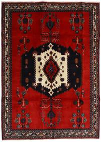 Afshar Matto 188X261 Itämainen Käsinsolmittu Musta/Ruoste/Tummanpunainen (Villa, Persia/Iran)