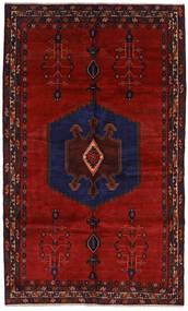 Afshar Matto 163X272 Itämainen Käsinsolmittu Tummanpunainen/Tummanvioletti (Villa, Persia/Iran)