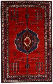 Afshar Matto 157X248 Itämainen Käsinsolmittu Tummanpunainen/Ruoste (Villa, Persia/Iran)