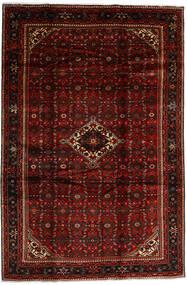 Hosseinabad Matto 208X310 Itämainen Käsinsolmittu Tummanpunainen (Villa, Persia/Iran)