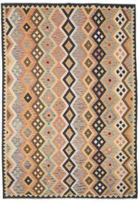 Kelim Afghan Old Style Matto 208X298 Itämainen Käsinkudottu Tummanharmaa/Vaaleanruskea (Villa, Afganistan)