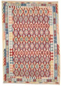 Kelim Afghan Old Style Matto 210X299 Itämainen Käsinkudottu Vaaleanharmaa/Beige (Villa, Afganistan)