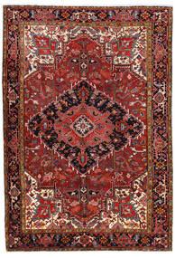 Heriz Matto 227X330 Itämainen Käsinsolmittu Tummanpunainen/Ruoste (Villa, Persia/Iran)