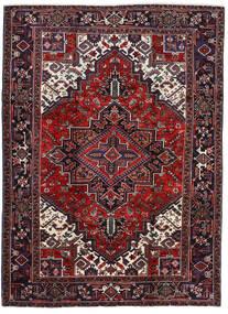 Heriz Matto 202X276 Itämainen Käsinsolmittu Tummanpunainen/Tummanruskea (Villa, Persia/Iran)
