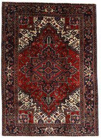 Heriz Matto 210X290 Itämainen Käsinsolmittu Tummanruskea/Tummanpunainen (Villa, Persia/Iran)