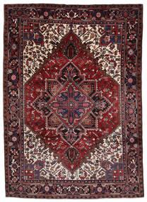 Heriz Matto 212X290 Itämainen Käsinsolmittu Tummanpunainen/Vaaleanharmaa (Villa, Persia/Iran)