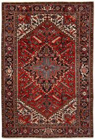 Heriz Matto 200X292 Itämainen Käsinsolmittu Tummanruskea/Tummanpunainen (Villa, Persia/Iran)