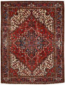 Heriz Matto 216X292 Itämainen Käsinsolmittu Tummanruskea/Tummanpunainen (Villa, Persia/Iran)