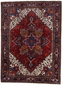Heriz Matto 220X296 Itämainen Käsinsolmittu Tummanpunainen (Villa, Persia/Iran)