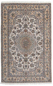 Nain 9La Matto 155X245 Itämainen Käsinsolmittu Vaaleanharmaa/Vaaleanruskea (Villa/Silkki, Persia/Iran)