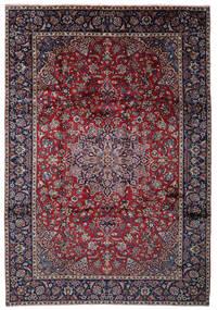 Najafabad Matto 262X375 Itämainen Käsinsolmittu Musta/Vaaleanharmaa Isot (Villa, Persia/Iran)