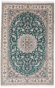 Nain 9La Matto 161X248 Itämainen Käsinsolmittu Vaaleanharmaa/Tumma Turkoosi (Villa/Silkki, Persia/Iran)