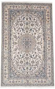 Nain 9La Matto 159X255 Itämainen Käsinsolmittu Valkoinen/Creme/Tummanruskea (Villa/Silkki, Persia/Iran)