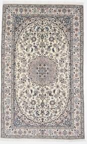 Nain 9La Matto 156X254 Itämainen Käsinsolmittu Vaaleanharmaa/Valkoinen/Creme (Villa/Silkki, Persia/Iran)