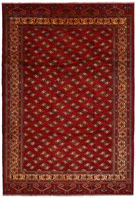 Turkaman Matto 245X356 Itämainen Käsinsolmittu Tummanpunainen/Tummanruskea (Villa, Persia/Iran)