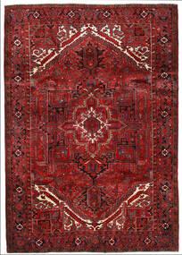 Heriz Matto 205X291 Itämainen Käsinsolmittu Tummanpunainen/Tummanruskea (Villa, Persia/Iran)