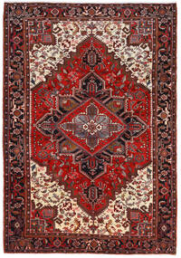Heriz Matto 210X302 Itämainen Käsinsolmittu Tummanpunainen/Tummanruskea (Villa, Persia/Iran)
