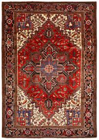 Heriz Matto 206X291 Itämainen Käsinsolmittu Tummanpunainen/Tummanruskea (Villa, Persia/Iran)