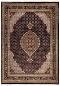 Tabriz Royal Matto 247X347 Itämainen Käsinsolmittu Ruskea/Tummanruskea/Tummanpunainen ( Intia)