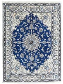 Nain Matto 168X233 Itämainen Käsinsolmittu Vaaleanharmaa/Valkoinen/Creme (Villa, Persia/Iran)