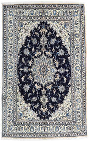 Nain Matto 158X252 Itämainen Käsinsolmittu Vaaleanharmaa/Musta (Villa, Persia/Iran)