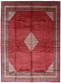 Sarough Mir Matto 294X394 Itämainen Käsinsolmittu Punainen/Tummanpunainen Isot (Villa, Persia/Iran)